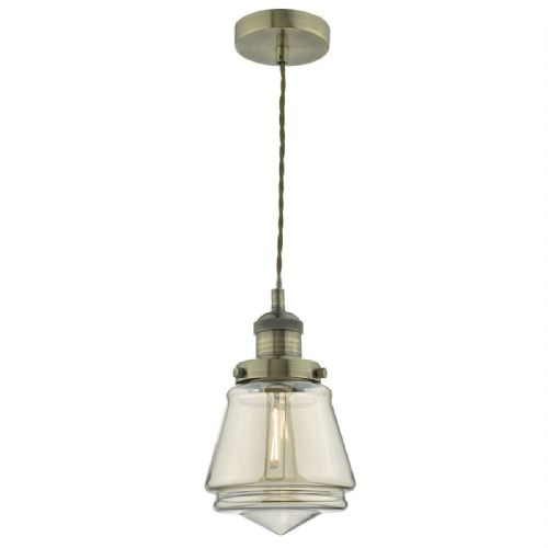 Curtis 1 Light Pendant Antique Brass/ Champagne